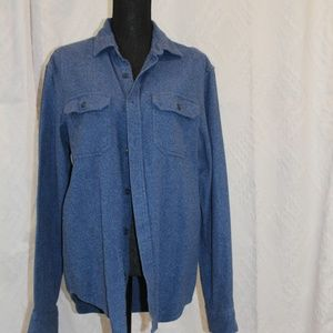 Old Navy Blue Flannel Button Down Long Sleeve